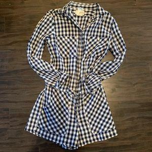 Tommy Hilfiger  navy & white checkered romper